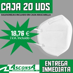 Mascarillas Autofiltrantes CE FFP2 (CAJA 20 Uds)